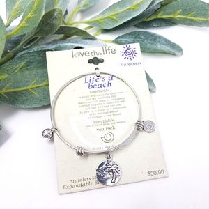 LOVE THIS LIFE Stainless Steel Beach Bracelet NWT